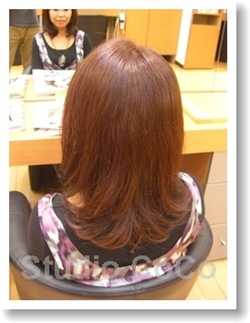 トリートメントカラーのビフォーアフター01(後)@姫路市駅前の美容室・美容院・ヘアサロン