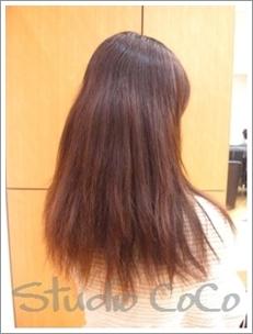 香草カラーのビフォーアフター02(前)@姫路駅前の美容院
