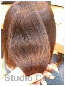 草木染め+クリアカラー02(後)@姫路市駅前の美容室・美容院・ヘアサロン