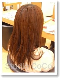 草木染め+クリアカラー01(前)@姫路市駅前の美容室・美容院・ヘアサロン