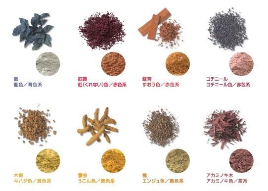 ノンジアミンカラーの草木染め その原料 @姫路の美容室・美容院