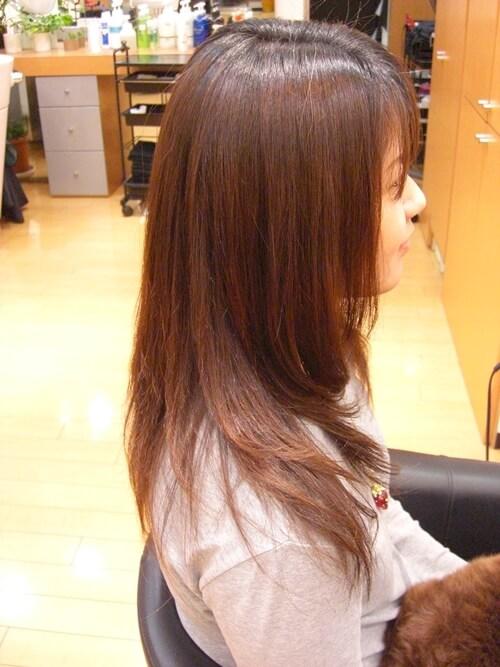 低アルカリ縮毛矯正のアフター画像01-2