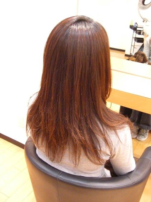 低アルカリ縮毛矯正のアフター画像01-3
