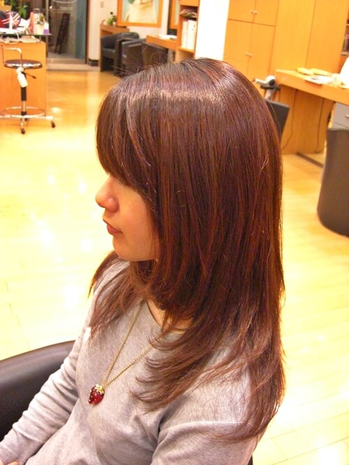 低アルカリ縮毛矯正のアフター画像01-4