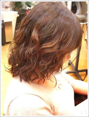 パーマモデルでビフォーアフター02 @姫路駅前の美容室・美容院・ヘアサロン
