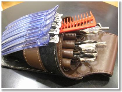 美容師の道具 『シザーケース』