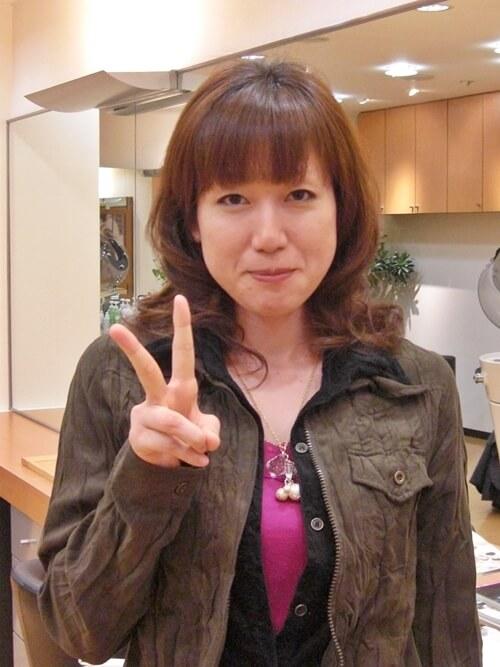 パーマモデルでビフォーアフター01 @姫路駅前の美容室・美容院・ヘアサロン