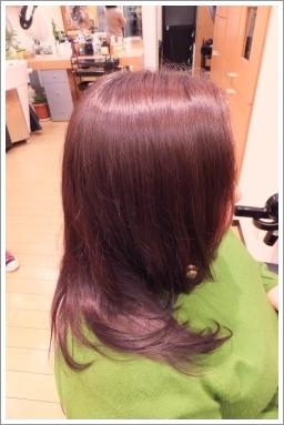 縮毛矯正モデルでビフォーアフター03 @姫路駅前の美容室・美容院・ヘアサロン