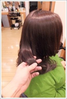 弱酸性縮毛矯正のビフォーアフター03(ツヤ感)[ロング]