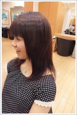 弱酸性縮毛矯正のビフォーアフター05 【後01】[ロング・左]