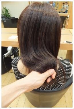 縮毛矯正モデルでビフォーアフター05 @姫路駅前の美容室・美容院・ヘアサロン