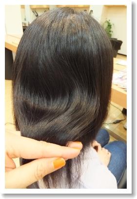 弱酸性縮毛矯正のビフォーアフター[後] ツヤ感、ミディアム