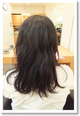 香草カラーのビフォーアフター 11 [施術前、後ろ側、ミディアム~ロング]