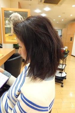 弱酸性の縮毛矯正・ストレートパーマ06 【施術前03】 ミディアムロング
