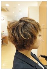 低アルカリパーマのビフォーアフター01 【施術後01】 ショートヘア