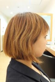 低アルカリパーマのビフォーアフター01 【施術前01】 ショートヘア