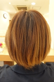 低アルカリパーマのビフォーアフター01 【施術前02】 ショートヘア