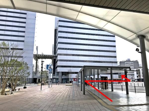 JR姫路駅南口からの徒歩アクセス 02