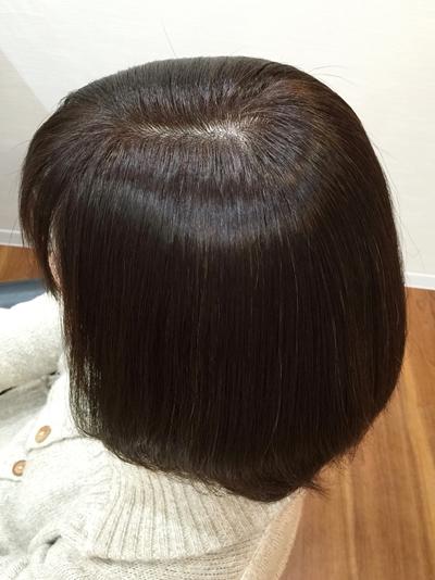 頭皮につけないカラーリングのアフター01