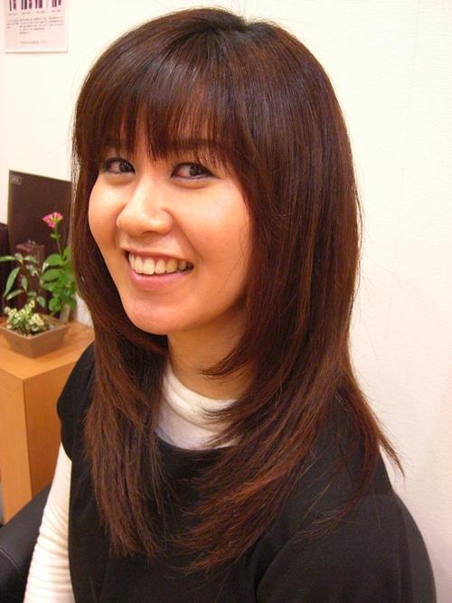 弱酸性縮毛矯正のビフォーアフター後の画像(左) 01 [ロング]