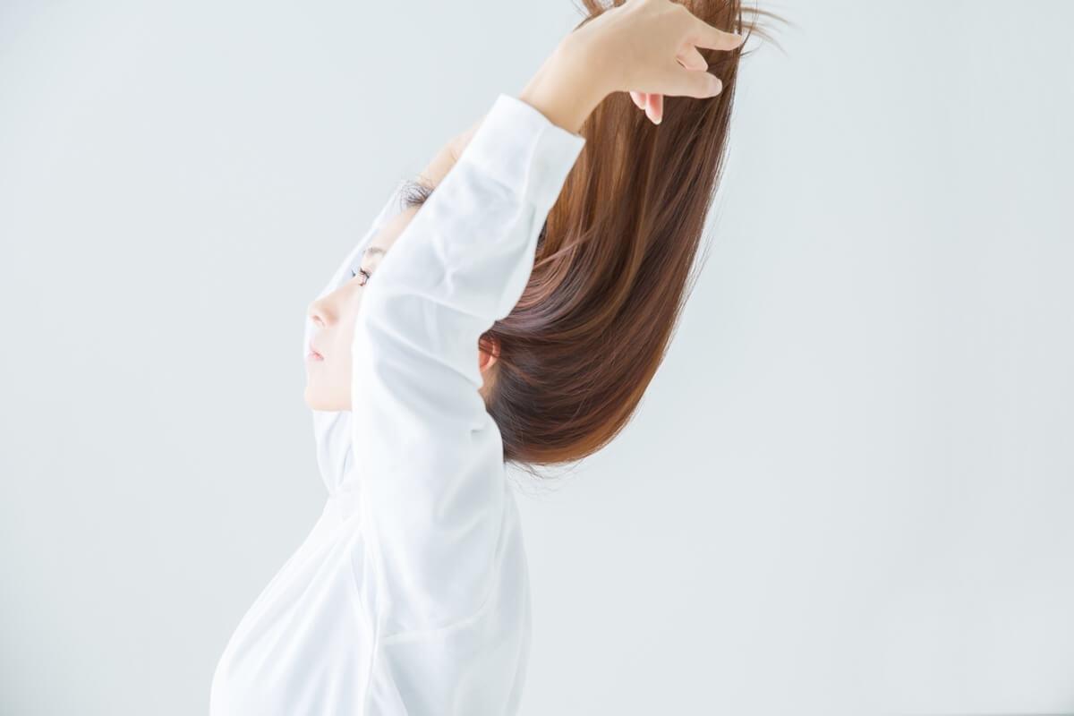 ふんわり柔らかい、さらさらと軽い質感の髪質