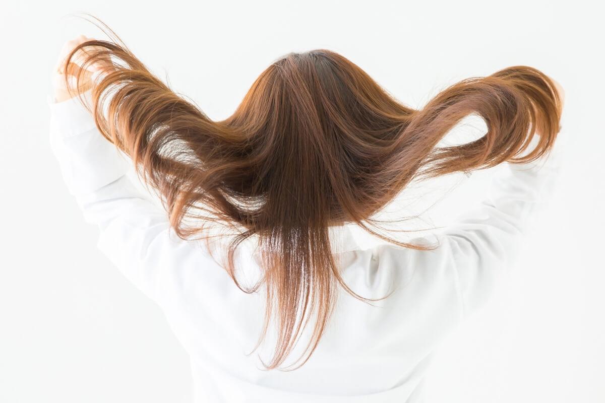 ヘアモデル(柔らかくてツヤのある髪)