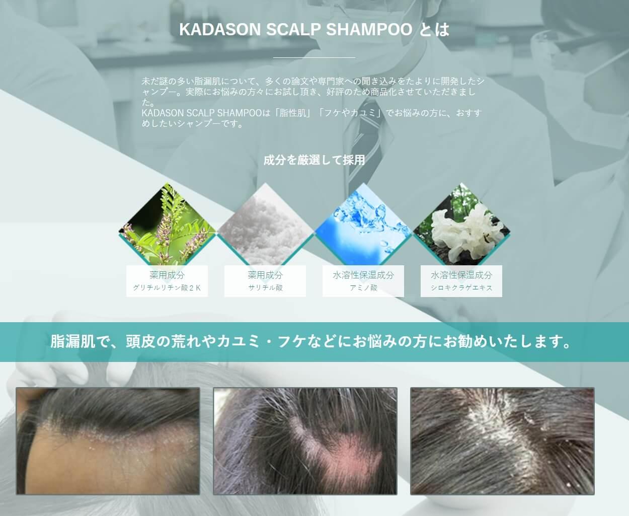 カダソン薬用スカルプシャンプーの効果イメージ画像