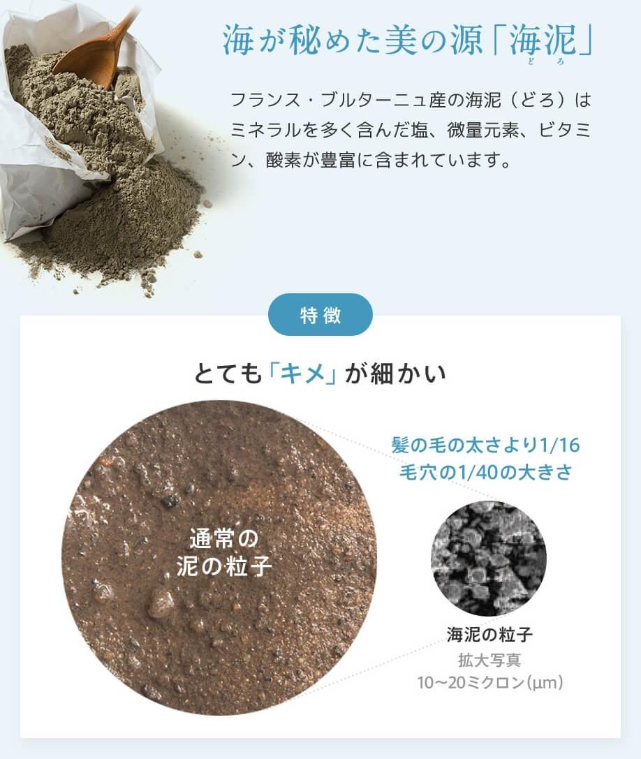 プレミオールシャンプーの海泥は毛穴の1/40サイズ、毛穴の汚れをクレンジング